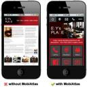 MobiAtlas Difference. Without v.s. with MobiAtlas designs